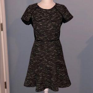 J. Crew tweed short sleeve A-line dress